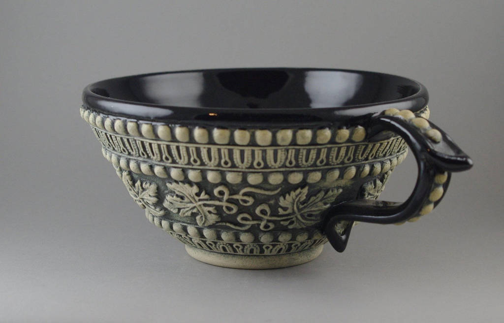 Grapeleaf Tea Cup by TheTrespasser