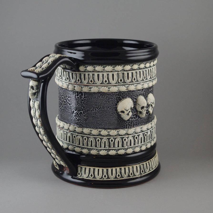 Skulls Beer Stein by TheTrespasser