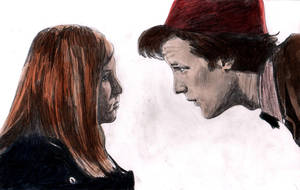 11th Doctor + Amelia  - Colour by The-Ribboned-One