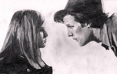 Eleventh Doctor + Amelia Pond by The-Ribboned-One