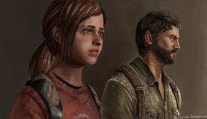The Last Of Us Ellie and Joel by Xa-rah