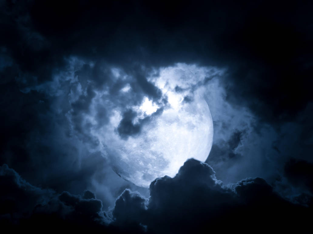 premade cloudy moon by DistrictAliens