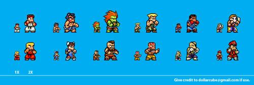 Street Fighter 2 Sprites by dollarcube