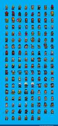Super Street Fighter 4 Sprites by dollarcube