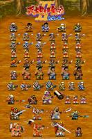 Warriors of Fate in Nekketsu Style by dollarcube