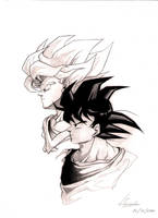 Son Goku - two sides by marvelmania
