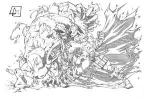 Venom vs Spawn by marvelmania