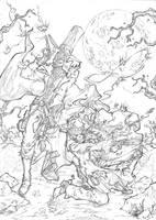 Gunslinger Spawn and Western Ghost Rider by marvelmania