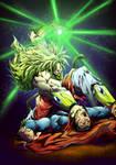 Broly vs Superman color da by marvelmania