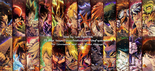 24 FAVORITE ANIME CHARACTERS by marvelmania