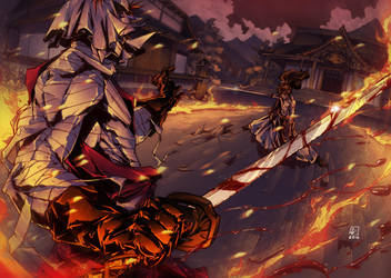 Shishio vs Kenshin colors by marvelmania