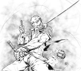 RORONOA ZORO from One Piece by marvelmania