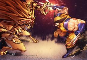 Tora vs Wolverine COLLAB by marvelmania