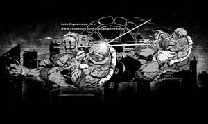 TMNT - Leonardo and Raphael - Commission by marvelmania