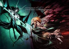 KUROSAKI ICHIGO vs ULQUIORRA from Bleach by marvelmania