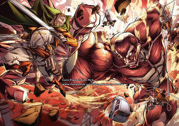 ATTACK ON TITAN Birthday gift Commission color by marvelmania