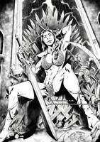 MIRIAM NAKAMOTO as Red Sonja commission by marvelmania