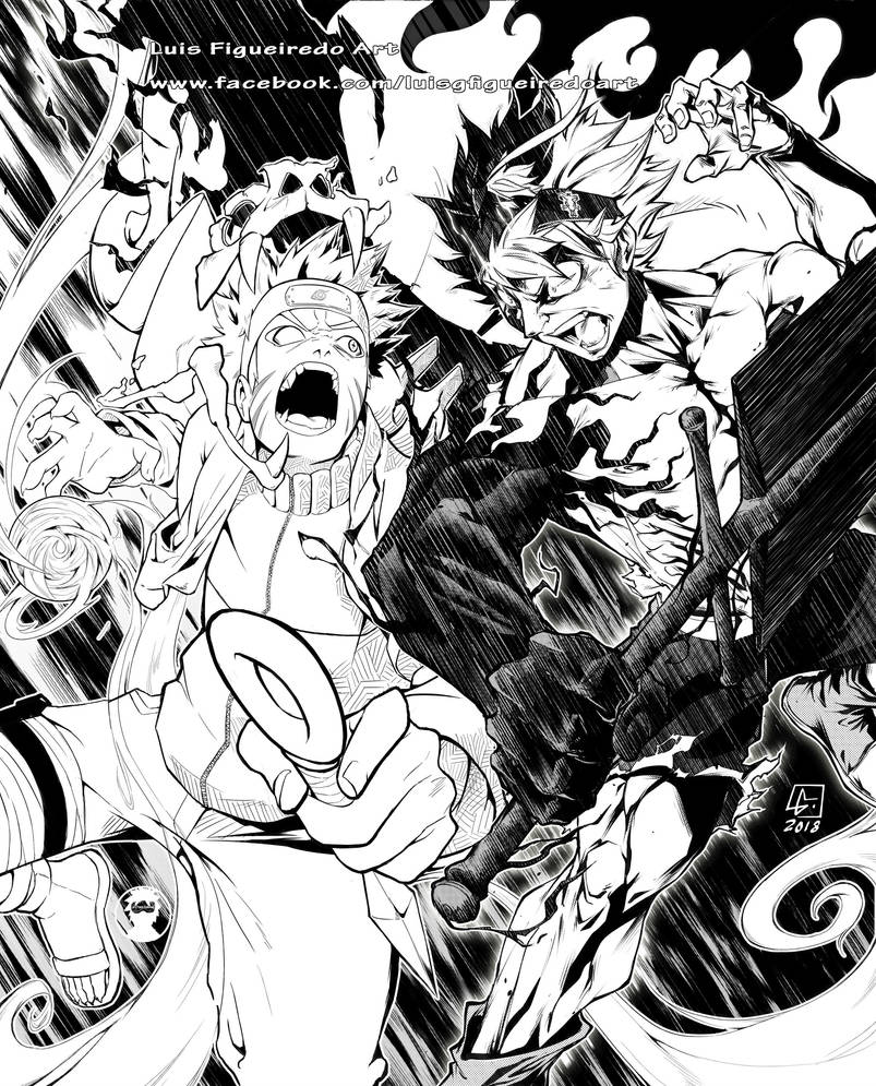 NARUTO UZUMAKI Vs ASTA (BlackClover) Crossover By