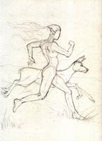 The race - sketch by Narsilia