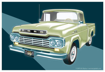 1959 Ford F-100 by MercenaryGraphics