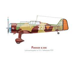 Fokker D.XXI Netherlands by MercenaryGraphics