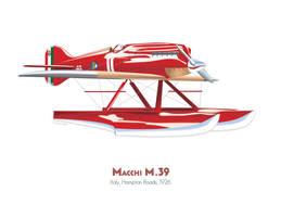 Macchi M.39 by MercenaryGraphics