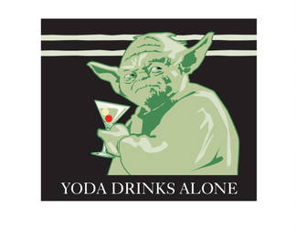 Yoda Drinks Alone by MercenaryGraphics