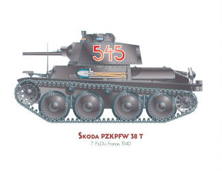 Skoda Pzkw 38t by MercenaryGraphics