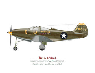 Bell P-39d by MercenaryGraphics