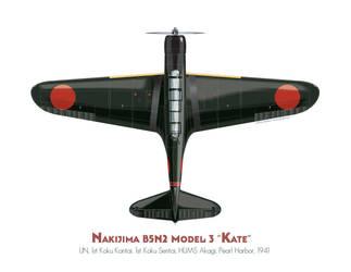 Nakajima B5N2 'Kate' by MercenaryGraphics