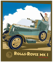 Rolls Royce Mk I Model 1924 by MercenaryGraphics