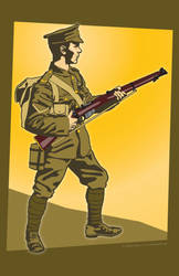 Brit Tommy 1914 by MercenaryGraphics