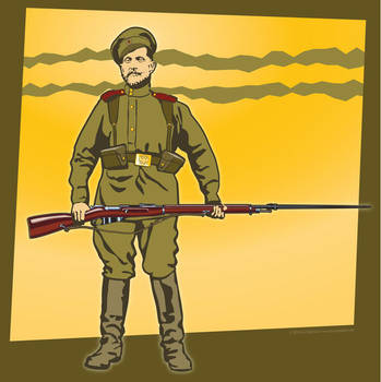 Russian Frontovik 1914 by MercenaryGraphics