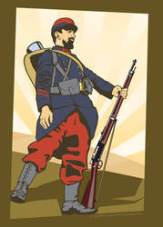 French Infantryman 1914 by MercenaryGraphics