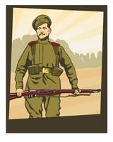 Frontovik Russian Infantryman 1914 by MercenaryGraphics
