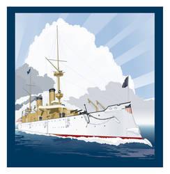 USS Olympia C-6 by MercenaryGraphics