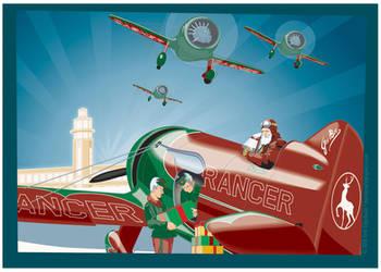 Santa's Aerodrome by MercenaryGraphics