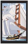 Schooner Sailing in the Golden Gate by MercenaryGraphics