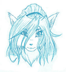 Headshot Sketch by WhiteFurr