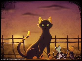 Halloween Cat Portrait by FantaTara