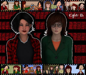 Daria Morgendorffer and Jane Lane by filmgeekkyle001