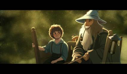 Frodo and Gandalf by DrunkenGren