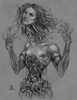 sketch- she floated away by larkin-art