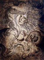 Mnemophobic purge, unframed by larkin-art