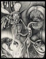 Insectoid nightmares by larkin-art