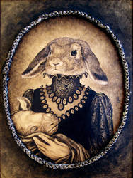 Liebchen and Unicorn, detail by larkin-art