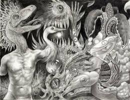 E.C. with A-Neon-Devil-Breath by larkin-art