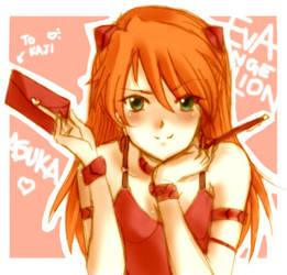 Sketch 1 +Asuka :Evangelion:+ by BoGilliam
