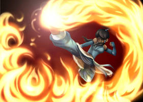 Countdown to Korra ~ :. Fire .: by Daydreamer-520