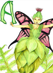 A is for Artichoke Fairies by zerioni